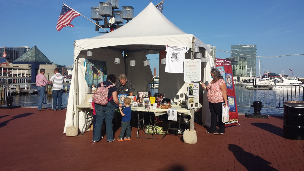 KLAC booth on Baltimore harbor