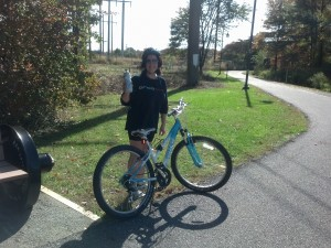Dianne with bike