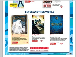 Scholastic Book Club flyer