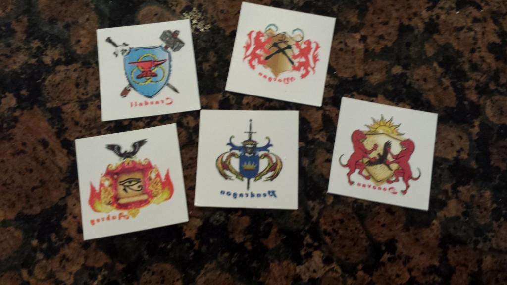 set of 5 tattoos