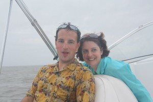 Bob and Dianne on boat
