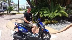 Bob on Moped